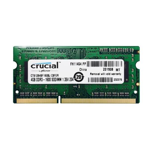 Memoria Crucial Ddr3 4gb 1600 Sodimm para Notebook