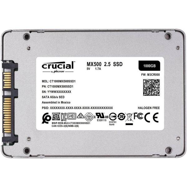 Disco Sólido SSD Crucial Mx500 1tb Sata 2.5 6gb/s