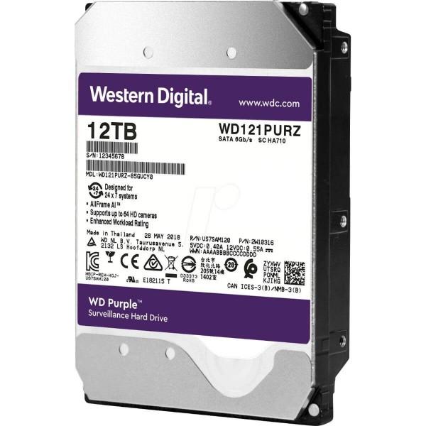 """Disco Duro 3.5"""" Wd Purple 12tb Sata3 Intellipower"""