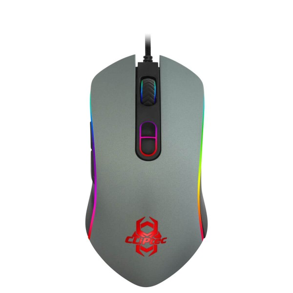 Mouse Usb Cliptec 571 Gaming Rgb - Negro