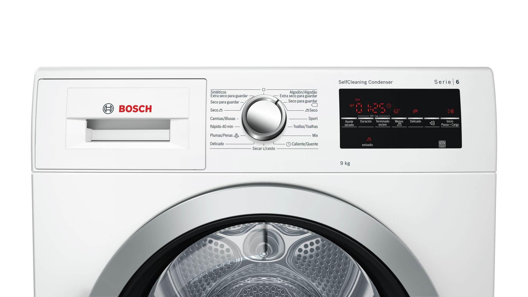 Secarropas Bosch con Bomba de Calor 9kg
