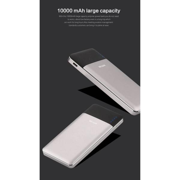 Cargador de Batería Celular Power Bank Wesdar S46 Silver
