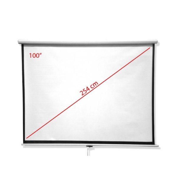 """Pantalla Para Proyector 100"""" Con Trípode"""