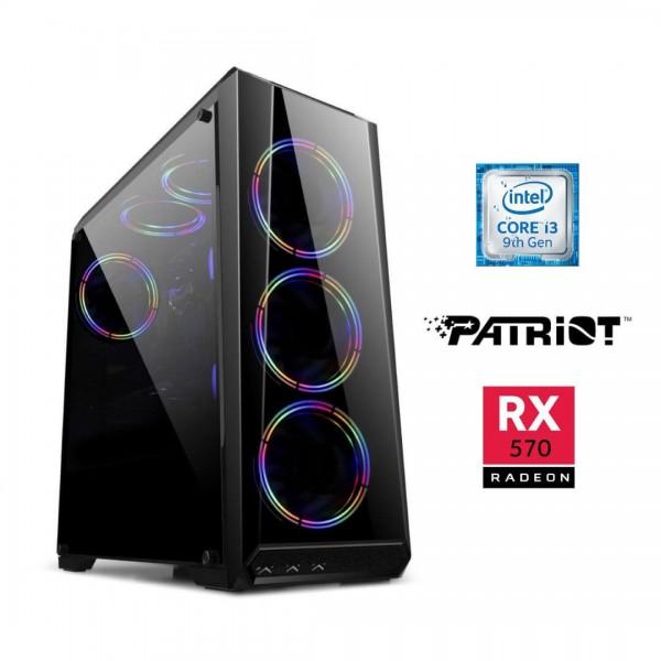 PC Intel i3 9400F - Rx570 8gb - 8gb 2666mhz Ddr4 - Ssd 240gb