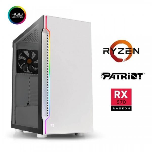 PC Gamer Ryzen 5 3600 – RX570 8gGb – 16Gb – SSD 240Gb - HDD 1Tb